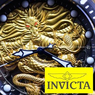 インビクタ(INVICTA)の◆INVICTAインビクタ/正規品/人気/ドラゴン/メンズ/腕時計/ゴールド(腕時計(アナログ))