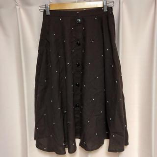 エブリン(evelyn)のアンミール ドット 刺繍 スカート(ひざ丈スカート)