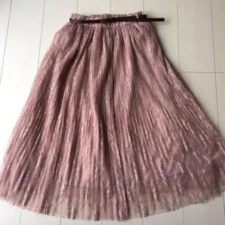 しまむら - 宮城舞 しまむら ベルト付き レース消し プリーツスカート チュールスカート
