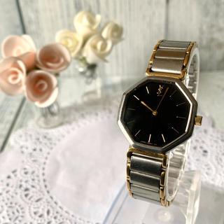 Saint Laurent - 【電池交換済】Yves Saint Laurent 腕時計 オクタゴン ブラック