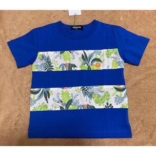 クレードスコープ(kladskap)の新品☆クレードスコープ ボタニカル柄切り替え半袖Tシャツ♪匿名配送無料(Tシャツ/カットソー)