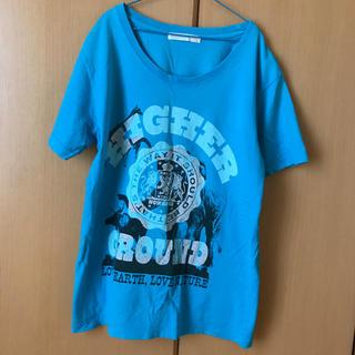 アフリカタロウ(AFRICATARO)のTシャツ 青(Tシャツ(半袖/袖なし))