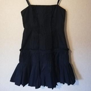 ビーシービージーマックスアズリア(BCBGMAXAZRIA)の紺色 ドレス パーティー ベアトップ(ミニドレス)