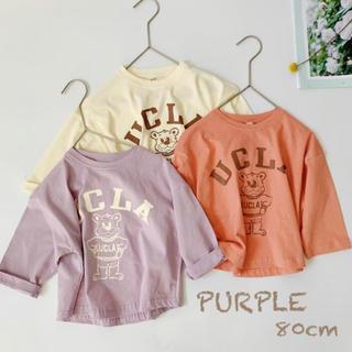韓国子供服*UCLA ロンT(パープル80cm)(シャツ/カットソー)