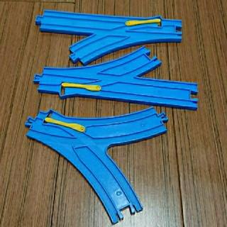 トミー(TOMMY)のプラレールレール ポイントレール3点(鉄道模型)