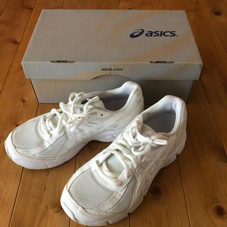 asics - アシックス 白スニーカー サイズ24.5cm