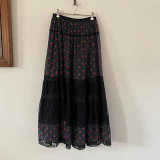 マークバイマークジェイコブス(MARC BY MARC JACOBS)のMARC BY MARC JACOBS チェリー柄スカート(ロングスカート)