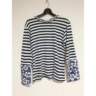 コムデギャルソン(COMME des GARCONS)の美品タグ付き 定番コムデギャルソン シャツ ボーダーカットソー(Tシャツ/カットソー(七分/長袖))