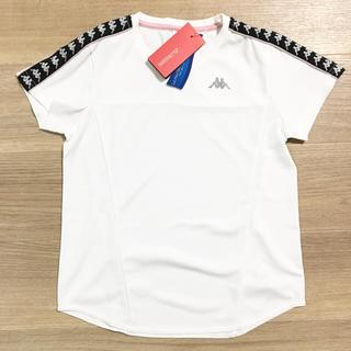 カッパ(Kappa)のカッパ 半袖 Tシャツ 白 レディース S スポーツ ドライ 定価4290円(トレーニング用品)