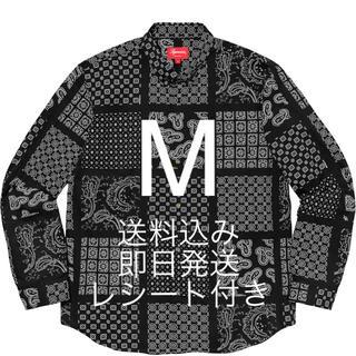 Supreme - M 送料込み 原本付き Supreme Paisley Grid Shirt