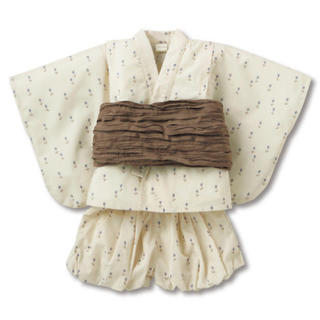 petit main - テータテート  チューリップ柄浴衣ドレスセット