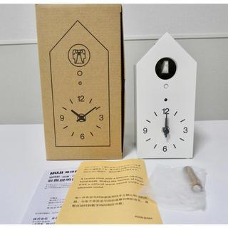 MUJI (無印良品) - 無印良品 鳩時計 掛置時計・ホワイト