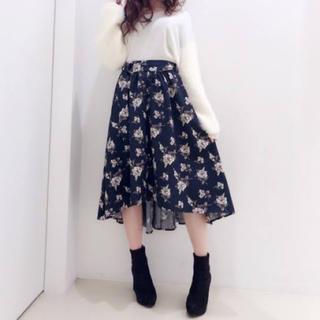 CECIL McBEE - 【美品】花柄アシンメトリースカート