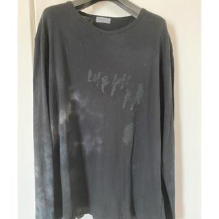 Yohji Yamamoto - 20ssヨウジヤマモトオム オールドコットン顔料プリントカゴ染メッセージTシャツ