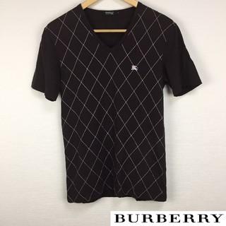 BURBERRY BLACK LABEL - 美品 BURBERRY BLACK LABEL 半袖Tシャツ ブラウン サイズ2