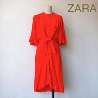 ザラ(ZARA)の【ZARA】ザラ ワンピース 春 レディース 赤 アシンメトリー(ひざ丈ワンピース)