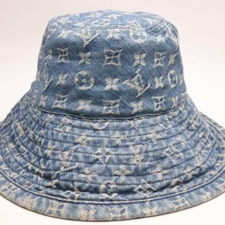 ルイヴィトン(LOUIS VUITTON)のルイヴィトン N80207 モノグラムデニム ブルー ハット 帽子 CAP 正規(キャップ)