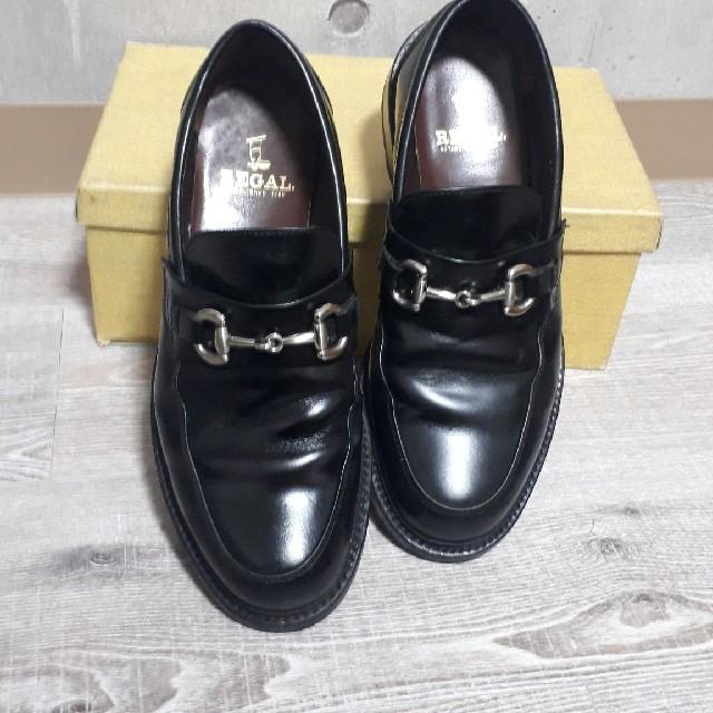 REGAL(リーガル)の【良好!】リーガル レザー ビット ローファー 251/2 ブラック メンズの靴/シューズ(ドレス/ビジネス)の商品写真