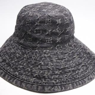 ルイヴィトン(LOUIS VUITTON)のルイヴィトン モノグラムデニム ブラック ハット 帽子 CAP シャポー 正規(キャップ)