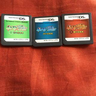 ポケモン(ポケモン)のポケモン不思議のダンジョン 空の探検隊 時の探検隊 闇の探検隊 ds ソフト(携帯用ゲームソフト)
