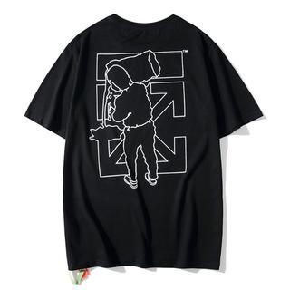 オフホワイト(OFF-WHITE)のOFF WHITE Tシャツ 半袖 メンズ レディース 夏 黒(Tシャツ/カットソー(半袖/袖なし))