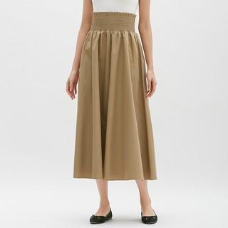 GU - シャーリング フレア ロングスカート