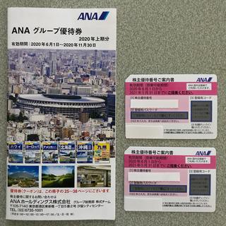 エーエヌエー(ゼンニッポンクウユ)(ANA(全日本空輸))のANA 株主優待 2枚(航空券)
