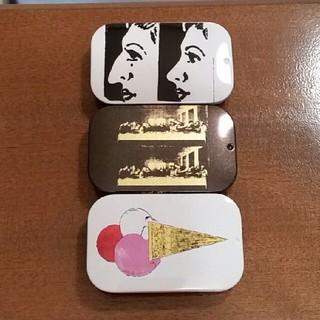 アンディウォーホル(Andy Warhol)のアンディ・ウォーホル × 味覚糖アート缶3点(その他)