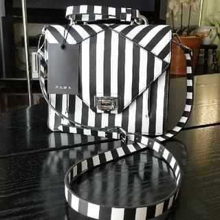 ZARA - 値下げ⭐️新品タグ付⭐️ZARAザラ ストライプ ショルダーバッグ