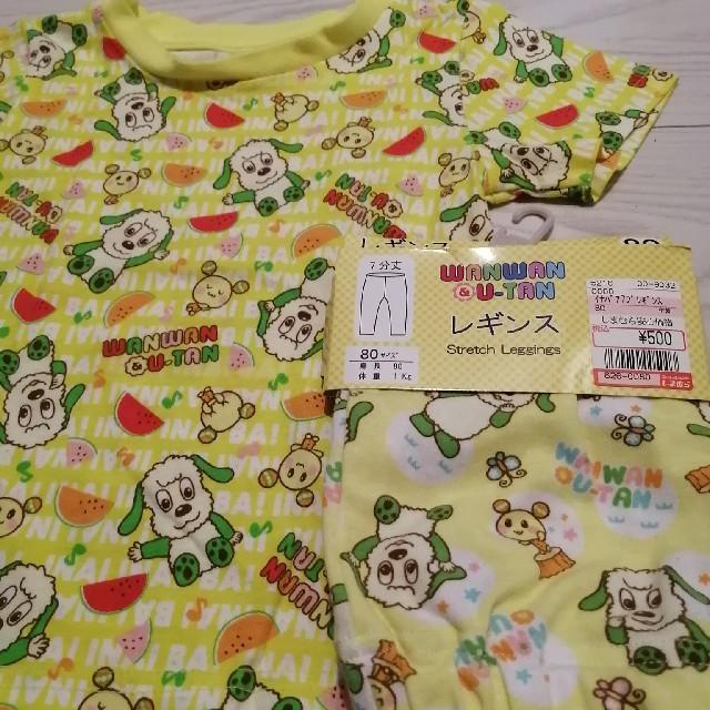 しまむら(シマムラ)のいないいないばあっ! ワンワン Tシャツ レギンス 80cm キッズ/ベビー/マタニティのベビー服(~85cm)(Tシャツ)の商品写真