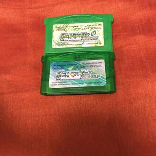 ポケモン(ポケモン)のポケットモンスター エメラルド  リーフグリーン ポケモン GBA ソフト(携帯用ゲームソフト)