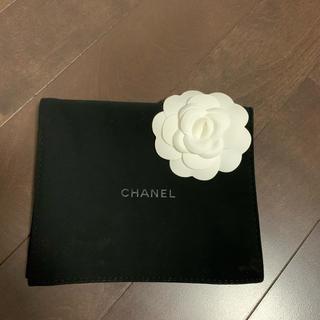 CHANEL - CHANEL シャネル 保存袋 ポーチ カメリア付き 新品未使用