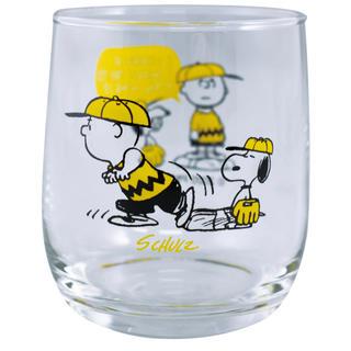 SNOOPY - スヌーピー グラス コップ チャーリーブラウン イエロー 野球 SNOOPY
