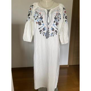 ZARA - Boujould デザインシャツロングワンピース