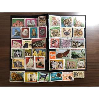 外国切手 猫 犬 切手 消印済 まとめ(使用済み切手/官製はがき)