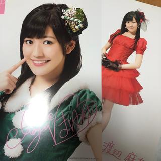 エーケービーフォーティーエイト(AKB48)の渡辺麻友 セブンイレブンクリスマスコラボ ポスター(アイドルグッズ)