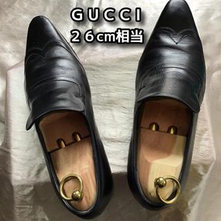 Gucci - GUCCI スリッポン ビジネスシューズ 26cm相当(表示 EU41)ブラック