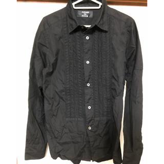 カバンドズッカ(CABANE de ZUCCa)のCABANE de ZUCCa 黒 フリル長袖シャツ。(シャツ)