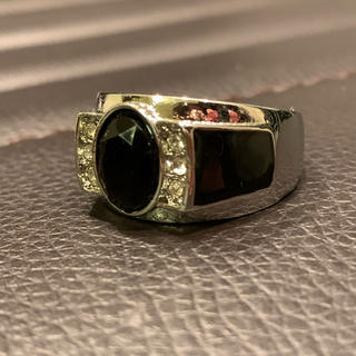 メンズ リング ブラック×シルバー ファッション リング プレゼント20号(リング(指輪))