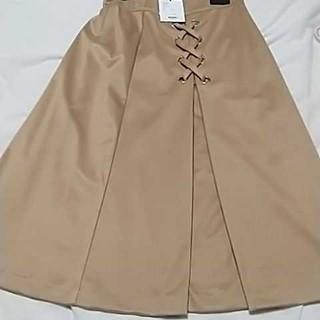 アンデミュウ(Andemiu)の新品サイドリボン付きスカート(ひざ丈スカート)