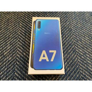 SAMSUNG - 【新品】Galaxy A7 ブルー 64 GB SIMフリー
