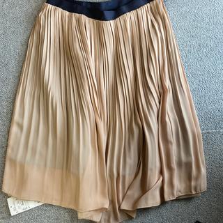 エニィスィス(anySiS)のanySiS 新品 チュールプリーツスカート アイボリー(ひざ丈スカート)
