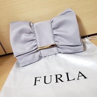 Furla - 美品 FURLA サテンりぼんクラッチバッグ
