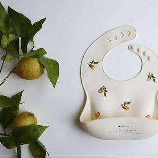 最安値 TRIK HOLIC シリコン ビブ レモン(お食事エプロン)