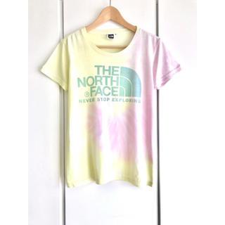 THE NORTH FACE - ノースフェイス『TNF』タイダイロゴTシャツ/ピンク&イエロー/レディースM