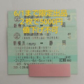ジェイアール(JR)の新横浜~静岡 新幹線回数券 二枚(その他)