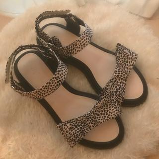 Lily Brown - leopard sandal