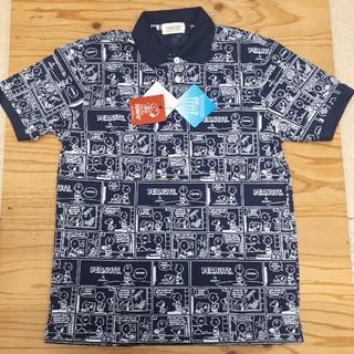 ピーナッツ(PEANUTS)の新品タグ付き 紺 スヌーピー ビッグポロシャツ (ポロシャツ)