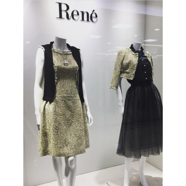 René(ルネ)の新品タグ付【Rene】2019年ツイードワンピース レディースのワンピース(ひざ丈ワンピース)の商品写真