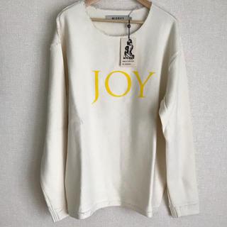 オフホワイト(OFF-WHITE)のmisbhv  ミスビベイブ カットソーjoy XL(Tシャツ/カットソー(七分/長袖))
